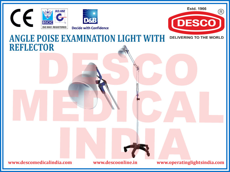 ANGLE POISE EXAMINATION LIGHT WITH REFLECTOR