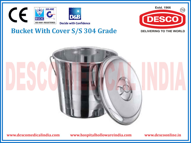 BUCKET WITH COVER S/S 304 GRADE