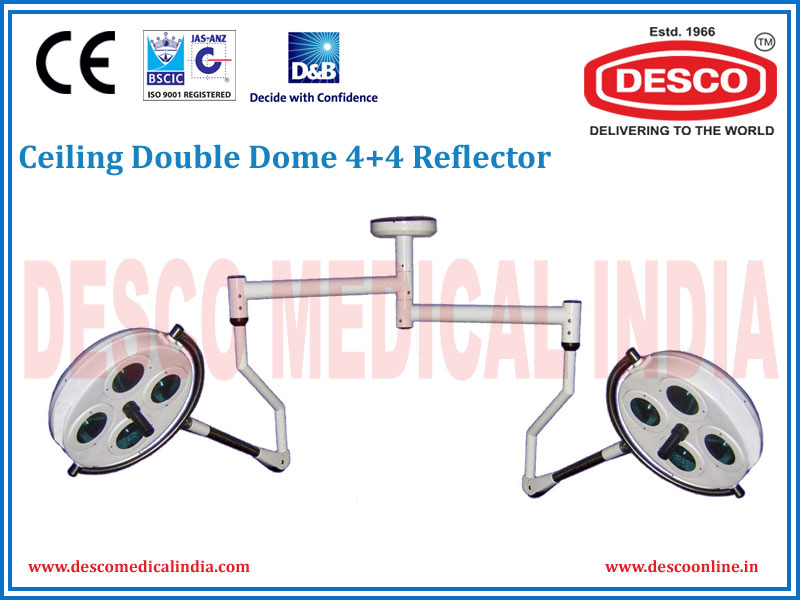CEILING DOUBLE DOME 4 + 4 REFLECTOR