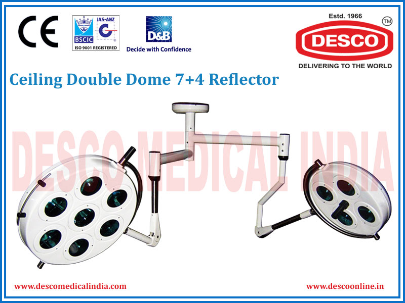 CEILING DOUBLE DOME 7 + 4 REFLECTOR