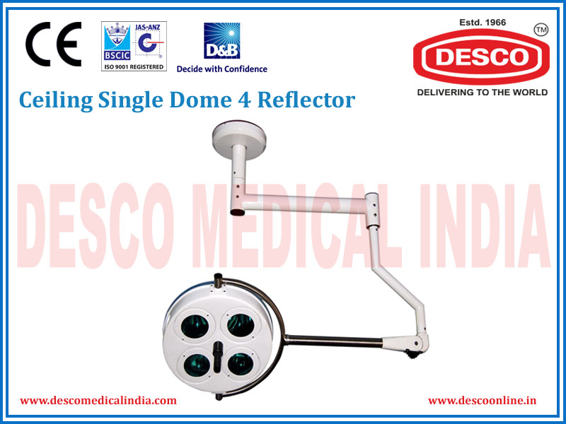 CEILING SINGLE DOME 4 REFLECTOR