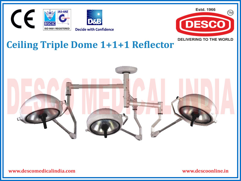 CEILING TRIPLE DOME 1 + 1 + 1 REFLECTOR