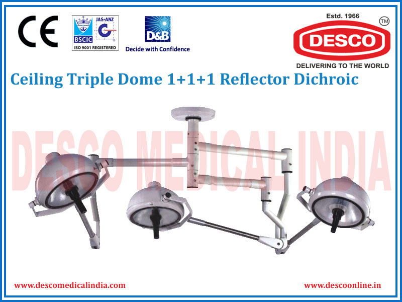 CEILING TRIPLE DOME 1 + 1 + 1 REFLECTOR DICHROIC