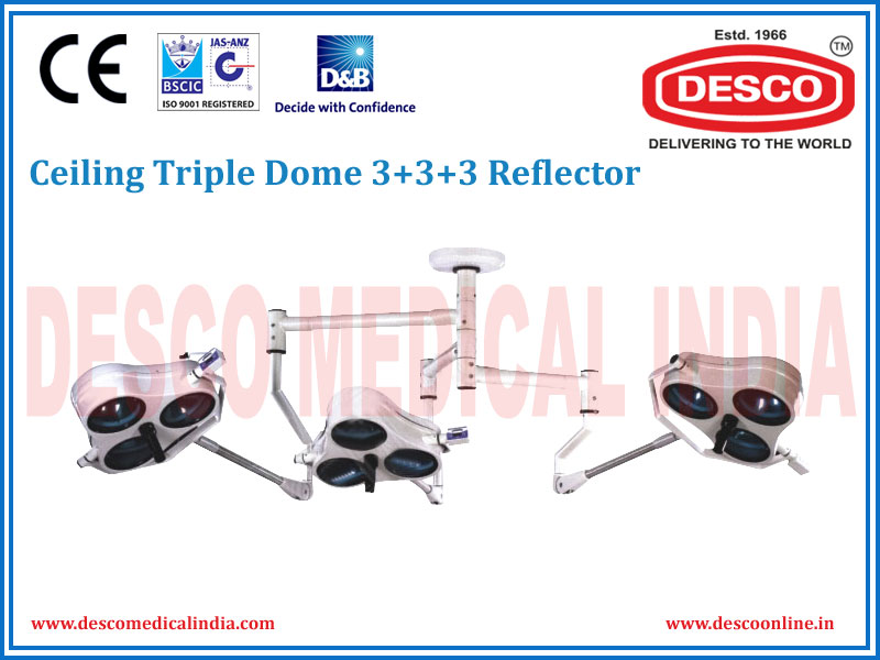CEILING TRIPLE DOME 3 + 3 + 3 REFLECTOR