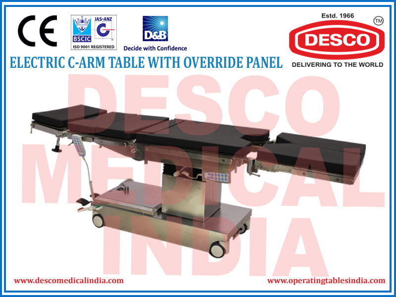 ELECTRIC C-ARM TABLE WITH OVERRIDE PANEL