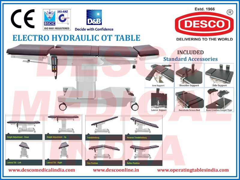 ELECTRO HYDRAULIC TABLE WITH TOP SLIDE