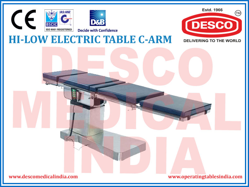 HI-LOW ELECTRIC TABLE C-ARM