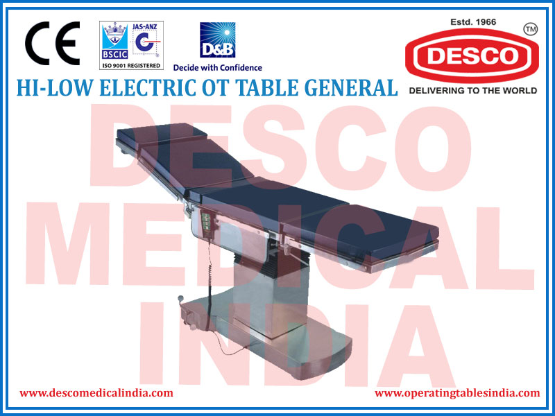 HI-LOW ELECTRIC OT TABLE GENERAL
