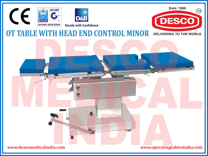 OT TABLE WITH HEAD END CONTROL MINOR