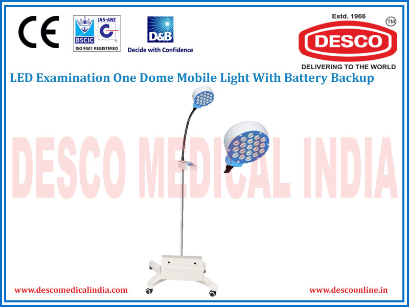 LED EXAMINATION ONE DOME MOBILE WITH BATTERY BACKUP LIGHT