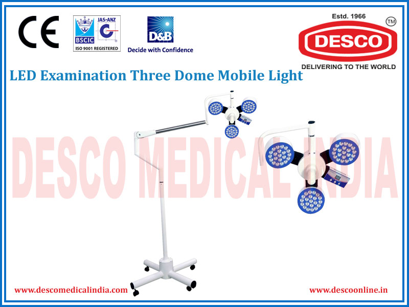 LED EXAMINATION THREE DOME MOBILE LIGHT
