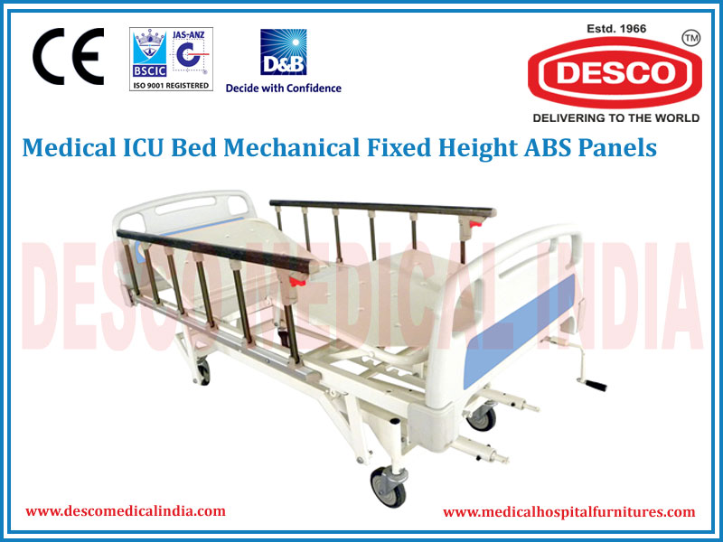 ICU BED MECHANICAL FIXED HEIGHT ABS PANELS