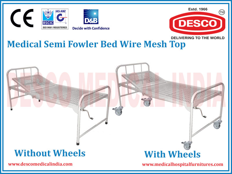 MEDICAL SEMI FOWLER BED WIRE MESH TOP