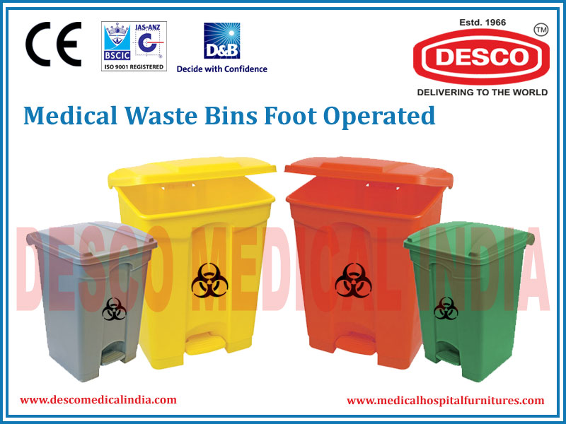 WASTE BINS FOOT OPERATED