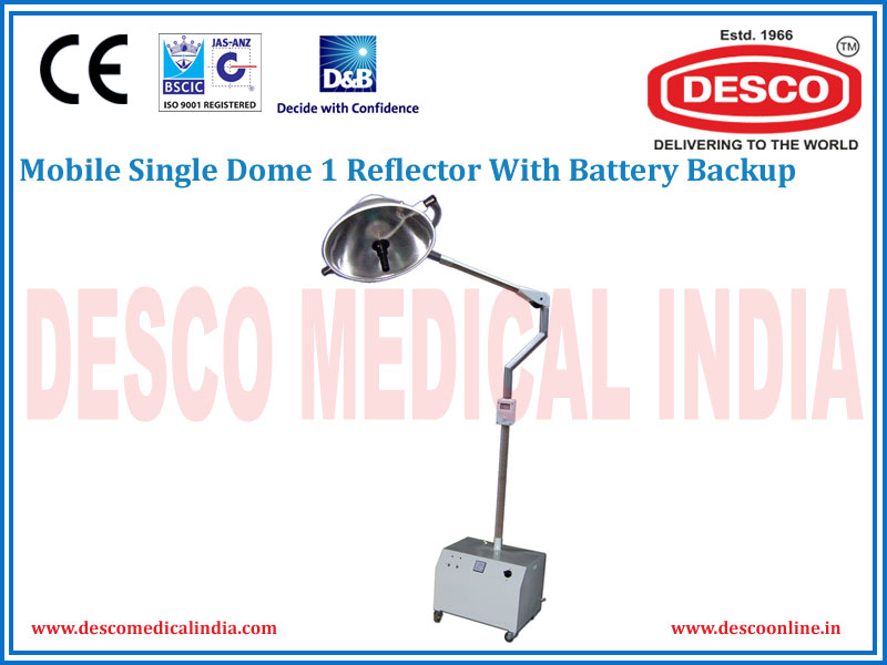 MOBILE SINGLE DOME 1 REFLECTOR WITH BATTERY BACKUP