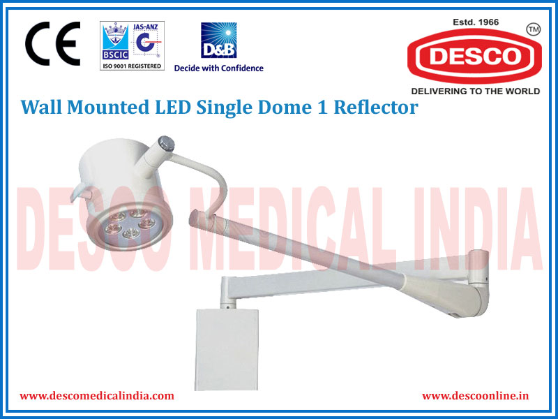 WALL MOUNTED LED SINGLE DOME 1 REFLECTOR