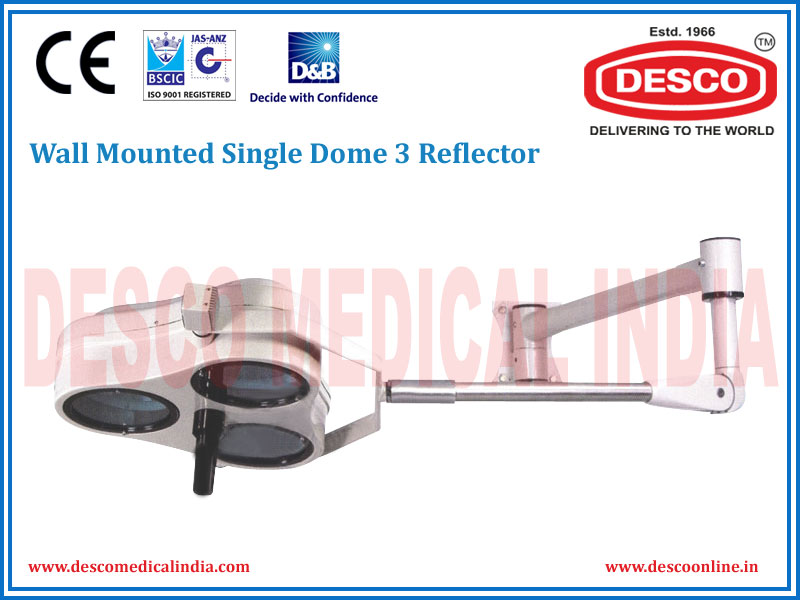 WALL MOUNTED SINGLE DOME 3 REFLECTOR